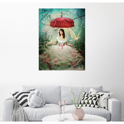 Posterlounge Wandbild, Graue Schärpe 60 cm x 80 cm