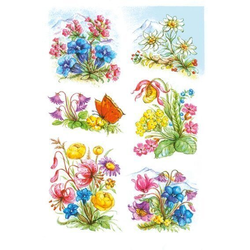 HERMA 3382 10x Sticker DECOR Gebirgsblumen