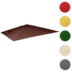 Bezug für Luxus-Ampelschirm HWC-A96, Sonnenschirmbezug Ersatzbezug, 3x4m (Ø5m) Polyester 3,5kg ~ braun