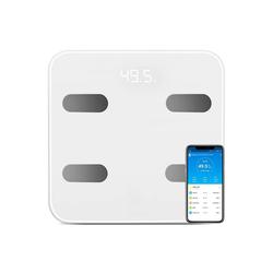 Vaxiuja Körper-Analyse-Waage Personenwaage Digital Körperfettwaage Bluetooth Körperwaage mit APP und, digitale Waage für Körperfett, BMI, BMR, Gewicht, Muskelmasse, Wasser, Protein, bis 180 kg