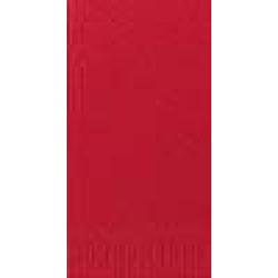DUNI Servietten, 33 x 33 cm, 3-lagig, 1/8 Falz, 1 Karton = 4 x 250 Stück = 1.000 Stück, rot