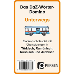 Das DaZ-Wörter-Domino: Unterwegs Kartenspiel