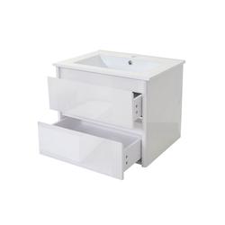 MCW Waschtisch MCW-B19, Soft-Close-System, Inkl. Aussparung für Siphon weiß