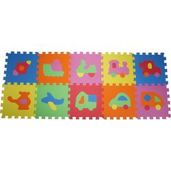 Knorrtoys® Puzzle Fahrzeuge, 10 Puzzleteile, Puzzlematte, Bodenpuzzle