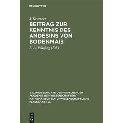 Beitrag zur Kenntnis des Andesins von Bodenmais als Buch von J. Kratzert