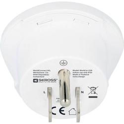 Skross 1.500221-E Reiseadapter CA W to USA