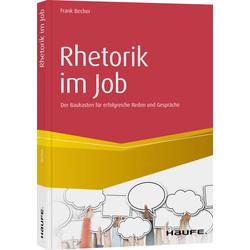 Rhetorik im Job als Buch von Frank Becher