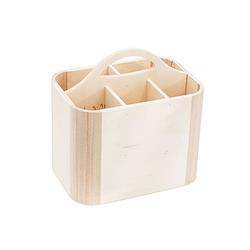 Utensilien-Box aus Holz, 23 x 16 x 17 cm