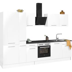 wiho Küchen Küchenzeile Ela, ohne E-Geräte, Breite 310 cm weiß