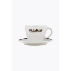 Berliner Kaffeerösterei Milchkaffeetasse mit Untertasse