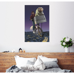 Posterlounge Wandbild, E.T. - Fliegendes Fahrrad 20 cm x 30 cm