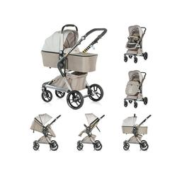 Chipolino Kombi-Kinderwagen Kinderwagen Fusion 2 in 1, Kollektion 2018, Sportaufsatz und Babywanne natur