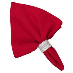 Stoffserviette, Textil Stoff Serviette rot einfarbig 45x45 cm, matches21 HOME & HOBBY