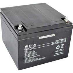 Vision Akkus LiFePo4 1230 Spezial-Akku LiFePo-Block Schraubkontakt LiFePO 4 12.8V 30000 mAh