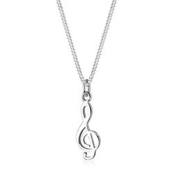 Elli Kette mit Anhänger Notenschlüssel Musik Symbol 925 Silber, Notenschlüssel