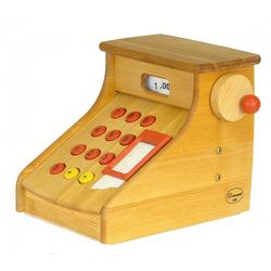 ERST-HOLZ Spielwelt 932-2400, Drewart Kasse Kaufladenkasse mit Klingel Spielzeug-Kasse 932.2400