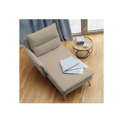 PLACE TO BE. Recamiere, Recamiere Ottomane Chaiselongue Sitzbank Polsterbank Tagesbett Daybed mit Armlehne links beige