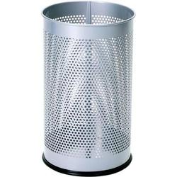 Papierkorb Metall 15 Liter silber