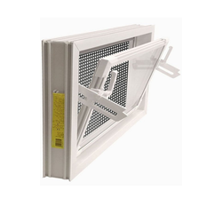 ACO Severin Ahlmann GmbH & Co. KG Kellerfenster ACO 90x60cm Nebenraumfenster Einfachglas + Schutzgitter Kippfenster Fenster weiß, inkl. Schutzgitter mit einfacher Montage