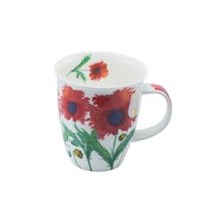 Dunoon Becher, Fine Bone China, Dunoon Becher Teetasse Kaffeetasse Nevis Flora Mohn