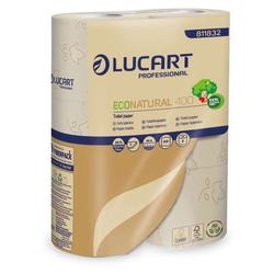 30 Rollen Toilettenpapier, Lucart Eco Natural 400, 2-lagig