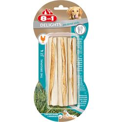 8IN1 Kausticks Dental Delights Bone Sticks 3 Pack.