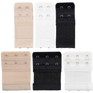 TRIXES 6PC BH Extender Strap Set - 2 Haken und 3 Haken Verlängerungen - Mutterschaft BH - Pflege BH - komfortabel und elastisch - temporäre Gewichtszunahme - schwarz weiß Beige