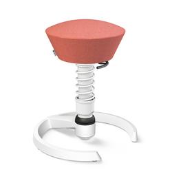 3D-Aktiv-Bürodrehstuhl Swopper aeris weiß, Designer Henner Jahns, 52-66 cm