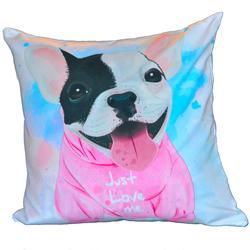 Kissenhülle 45x45 cm - süße Dogge, just love me