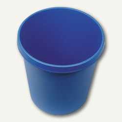 Helit Objekt-Papierkorb, 18 Liter, (Ø)31.5 x (H)33.1 cm, PE, blau, H6105834