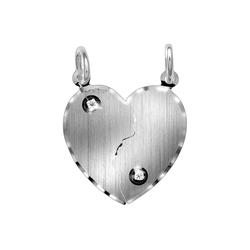 Vivance Anhänger 925/- Silber Partneranhänger weiß