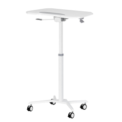 Sit To Stand Mobile Laptop Computer Stand with Height Adjustable White - Techni Mobili