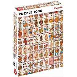 Piatnik Puzzle Spielkarten, 1000 Puzzleteile