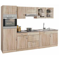 wiho Küchen Küchenzeile Linz, ohne E-Geräte, Breite 280 cm braun