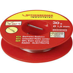 Rothenberger Industrial Bleifreies Radiolot 30g Lötzinn, bleifrei