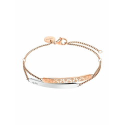Armband für Damen, Edelstahl IP Rose bicolor JOOP! Bicolor