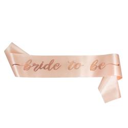 Schärpe Bride To Be JGA Junggesellinnenabschied Hen Party rosé gold