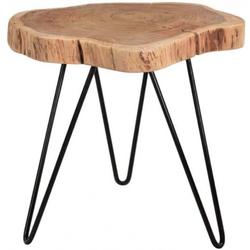 SAM® Couchtisch Logan, Beistelltisch natürliche Baumscheibe 50x50cm