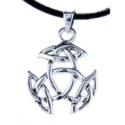 Kiss of Leather Kettenanhänger Keltischer Knoten Anhänger 925 Silber keltisch Kelten