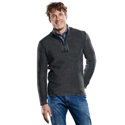 Pullover mit griffiger Reiskornstruktur Engbers Schwarz