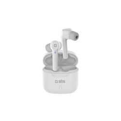 sbs SBS Bluetooth Kopfhörer - Wireless in Ear Kopfhörer weiß mit Touch-Steuerung für Anrufe & Musik, Ladebox, Bluetooth 5.0 wireless In-Ear-Kopfhörer