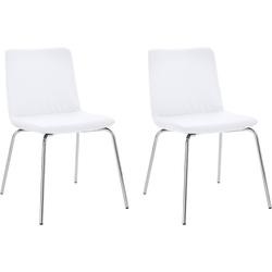 andas Stuhl Helen mit Metallbeinen (2er-Set) weiß