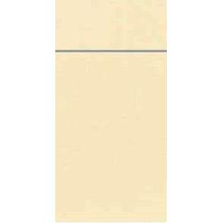 Duniletto slim cream 40x33cm 260 Stück Bestecktaschen mit Serviette