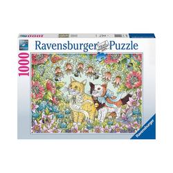 Ravensburger Puzzle Puzzle Kätzchenfreundschaft, 1.000 Teile, Puzzleteile