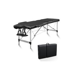 FCH Massageliege 3 Zonen Klappbar Massagetisch (Set), Mobile Therapieliege Tragbares Massagebett mit Höhenverstellbaren schwarz