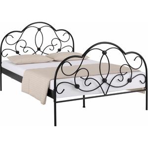 Home affaire Metallbett, schwarz, 140x200cm
