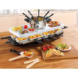 Raclette und Fondue-Set Raclette- und Fondue Set, 12 Raclettepfännchen, 1600 Watt, Raclette, 834804-0 weiß weiß