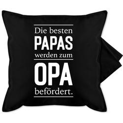 Shirtracer Kissenbezug Zum Opa befördert - weiß - Opa - Bedruckte Kissenhülle Kissen ohne Füllung - Kissen, Opa