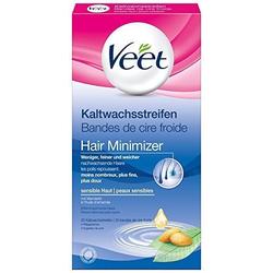 Veet Kaltwachsstreifen für sensible Haut mit Mandelöl, 1er Pack (1 x 20 Streifen)