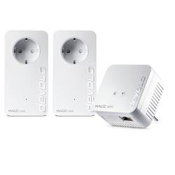 DEVOLO Powerline + WLAN ac, Mesh WIFI, 3 Adapter) Netzwerk-Adapter, Magic 1 WiFi Multimedia Power Kit (1200Mbit
